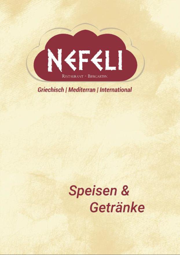 Speisekarte | Nefeli - Griechisches Restaurant